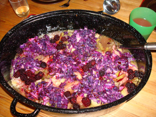 Purple pork