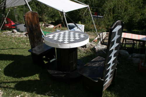July - chess table