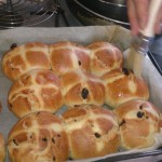 April - hot cross buns