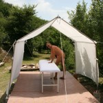 June - massage tent