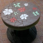 July - mosaic table