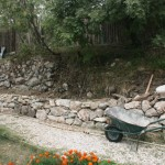 Sept stone wall nearly done