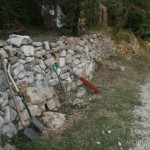 Sept stone walls before